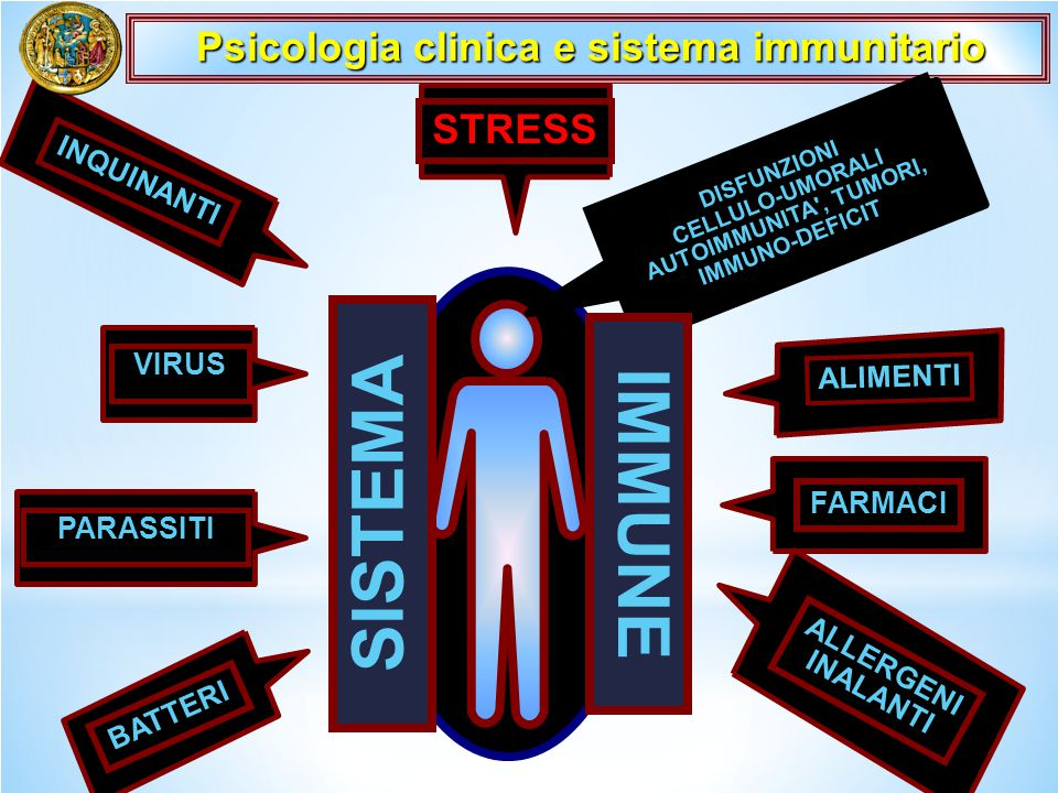 SISTEMA IMMUNE Psicologia clinica e sistema immunitario STRESS
