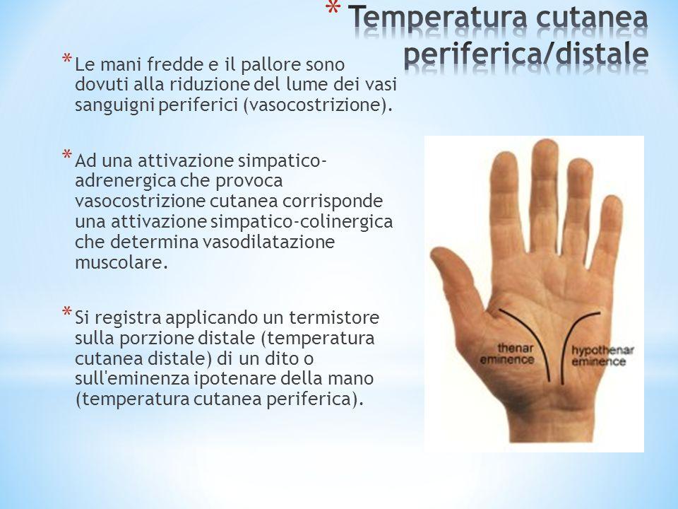 Temperatura cutanea periferica/distale
