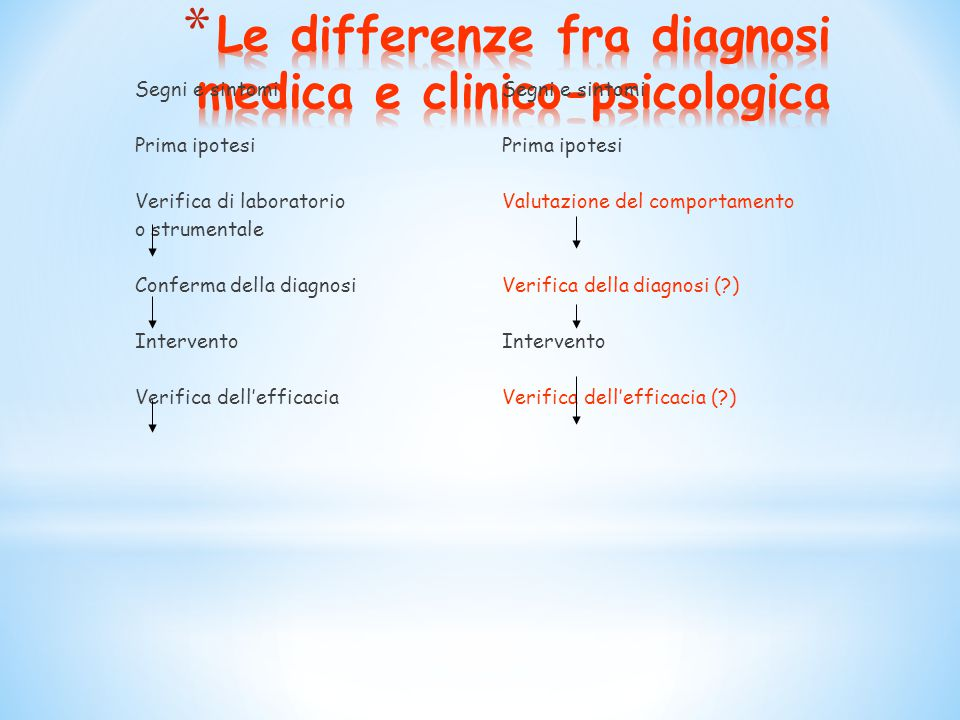 Le differenze fra diagnosi medica e clinico-psicologica