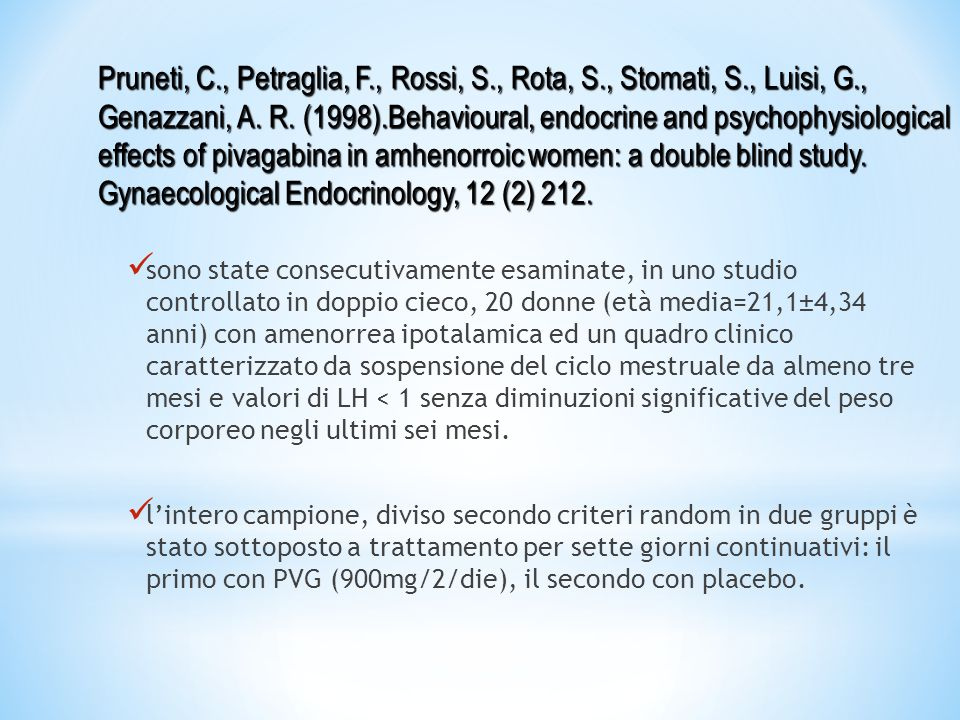 Pruneti, C. , Petraglia, F. , Rossi, S. , Rota, S. , Stomati, S