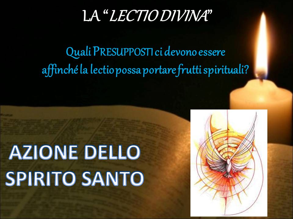 AZIONE DELLO SPIRITO SANTO