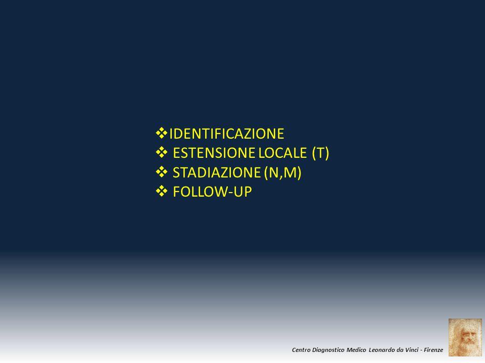 IDENTIFICAZIONE ESTENSIONE LOCALE (T) STADIAZIONE (N,M) FOLLOW-UP