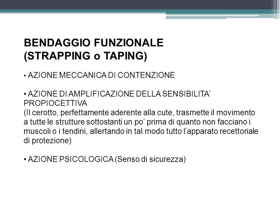 BENDAGGIO FUNZIONALE (STRAPPING o TAPING)