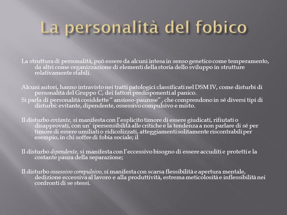 La personalità del fobico