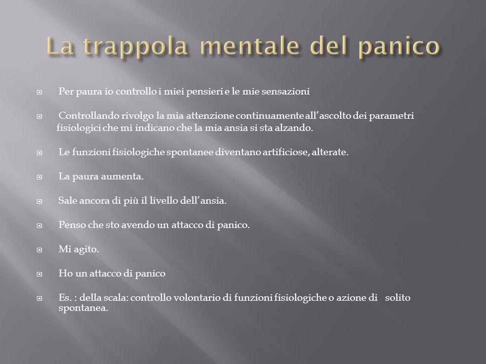 La trappola mentale del panico