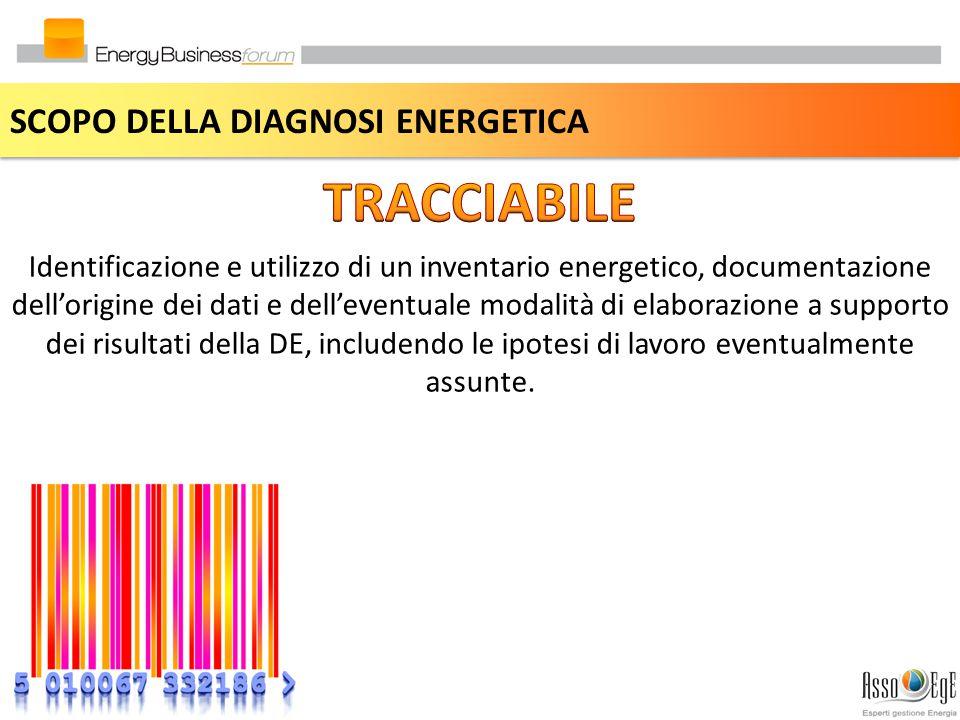 TRACCIABILE SCOPO DELLA DIAGNOSI ENERGETICA