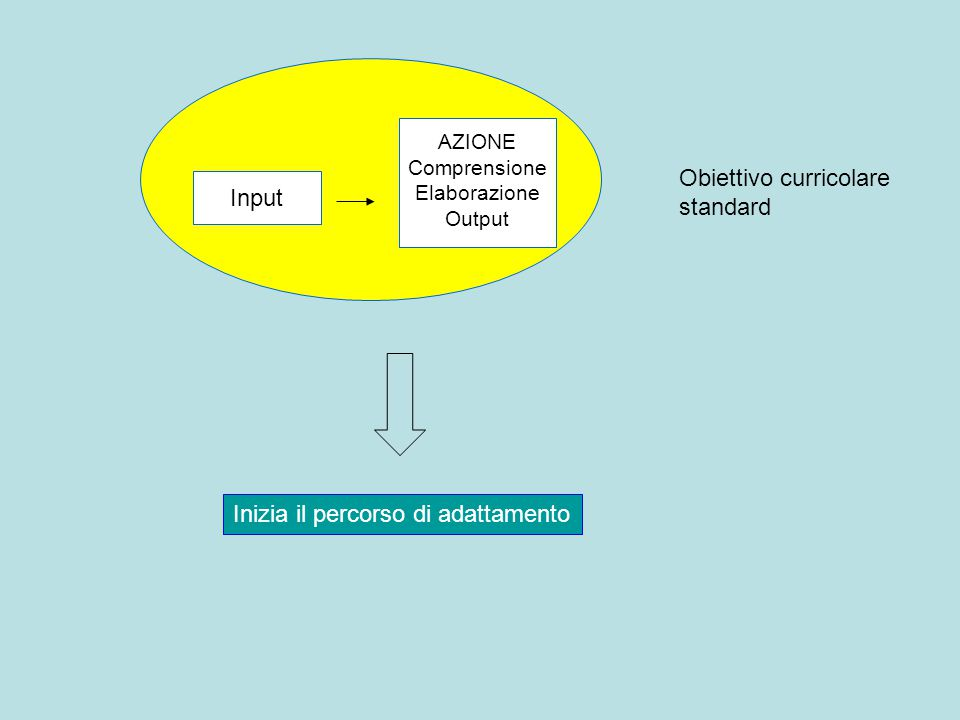 Obiettivo curricolare standard Input
