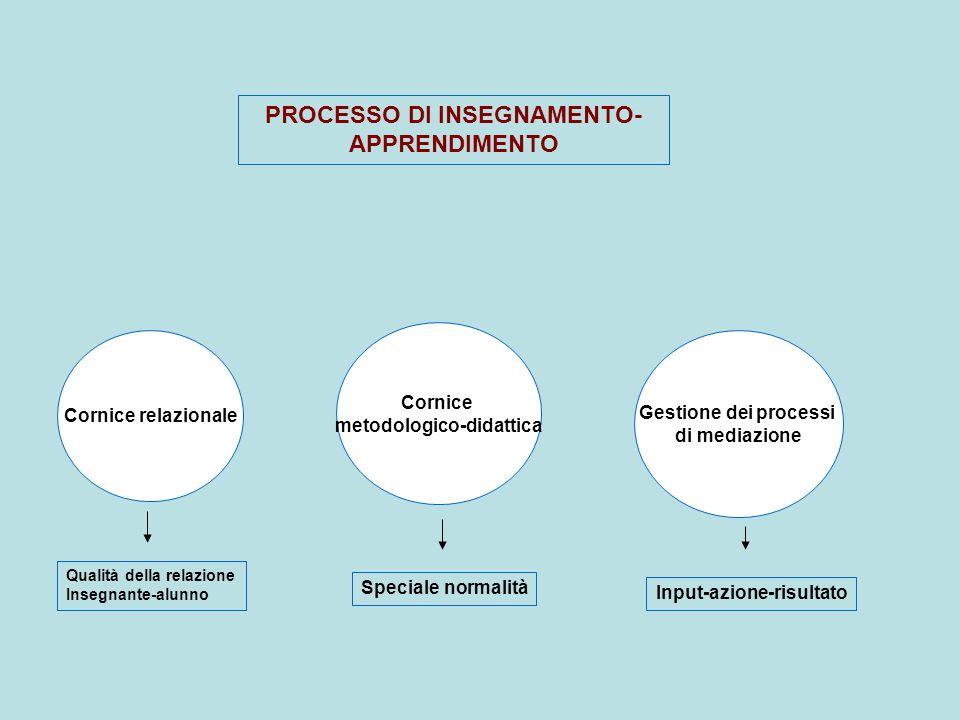 PROCESSO DI INSEGNAMENTO-APPRENDIMENTO metodologico-didattica