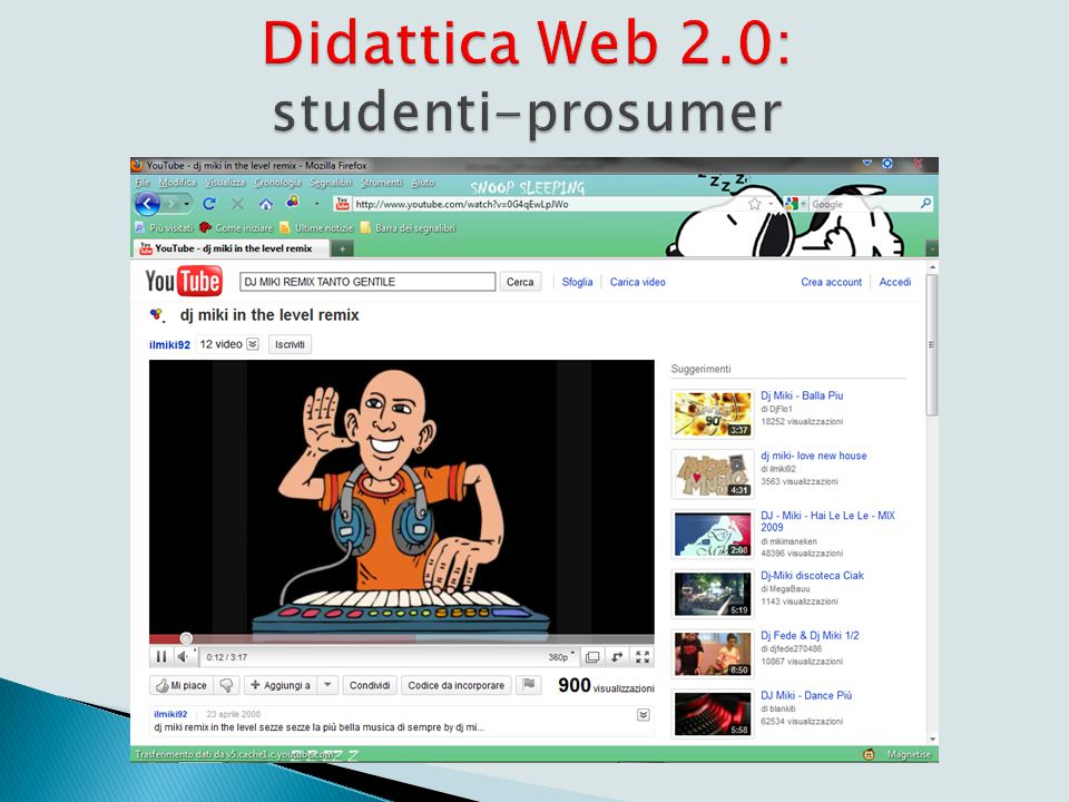 Didattica web 1.0 http://www.youtube.com/watch v=m6SGQUcorls