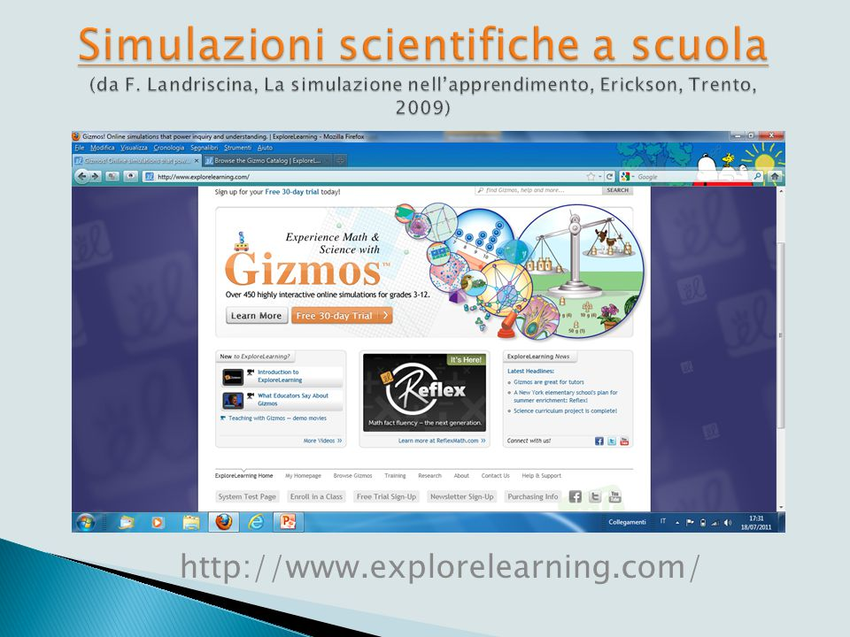 Simulazioni scientifiche Progetto Physics Education Technology Università Colorado