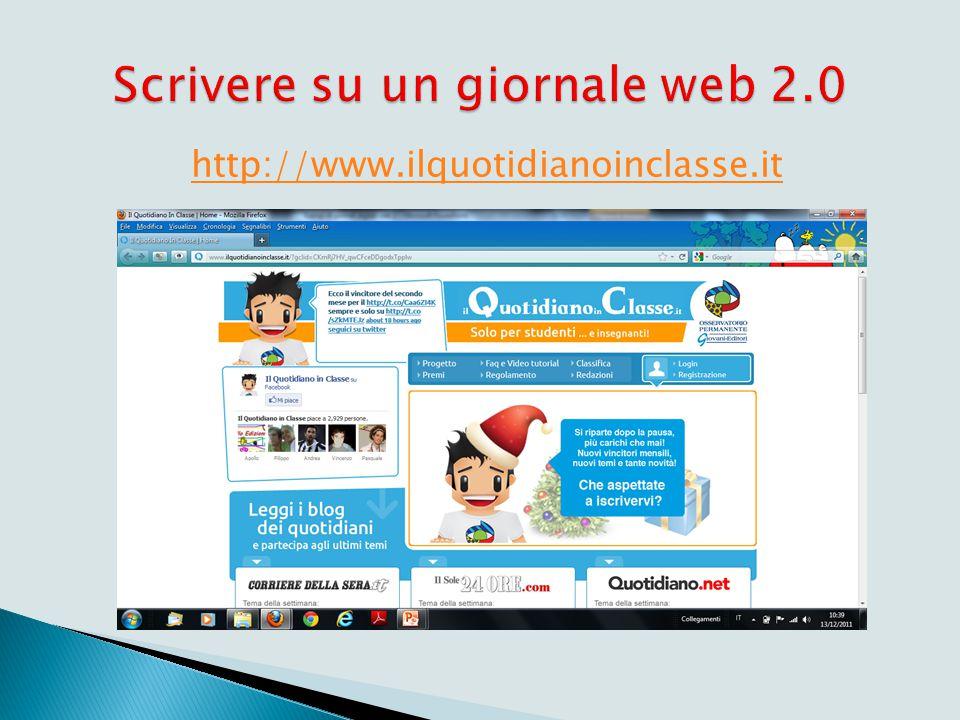 Esempi di giornali digitali web 2.0