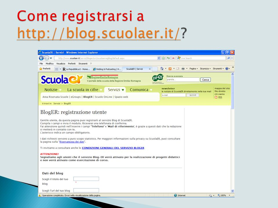 Blog su http://blog.scuolaer.it/