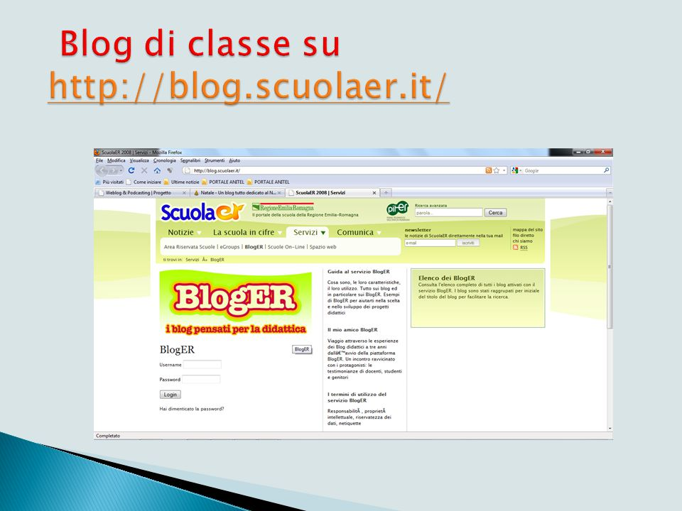 Come registrarsi a http://blog.scuolaer.it/