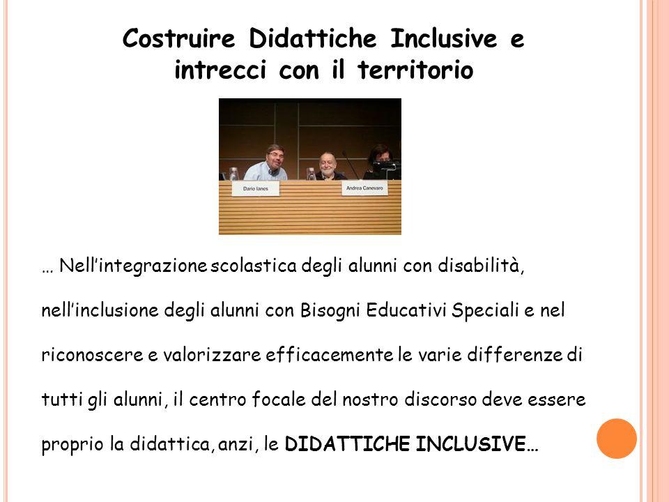 Costruire Didattiche Inclusive e intrecci con il territorio