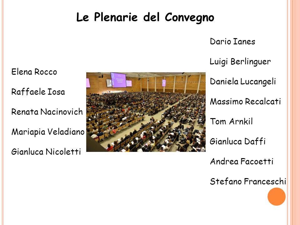 Le Plenarie del Convegno