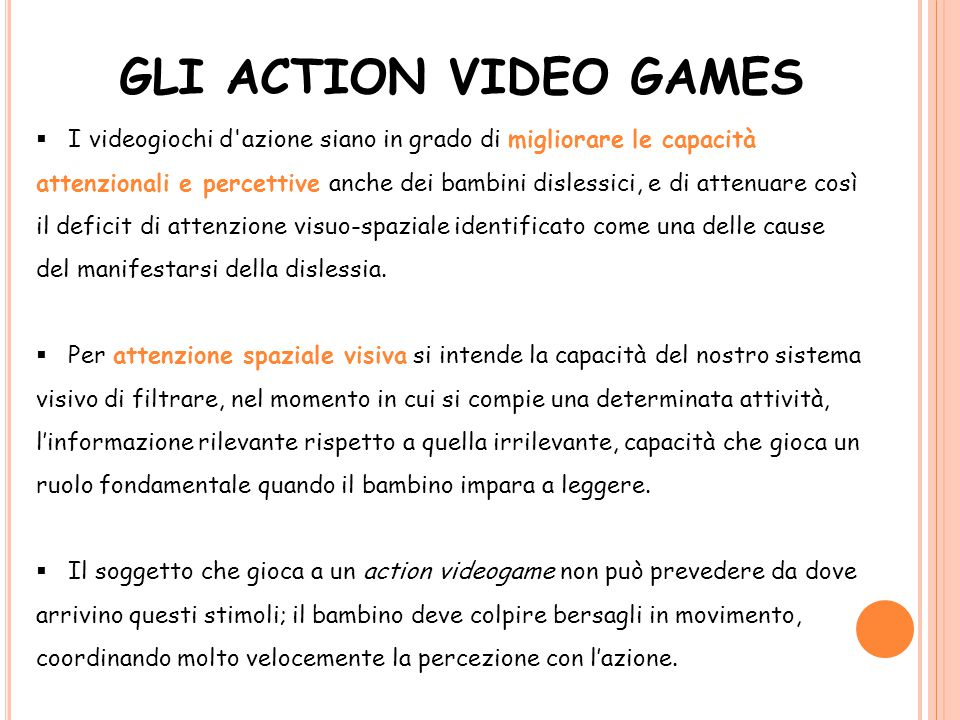 GLI ACTION VIDEO GAMES