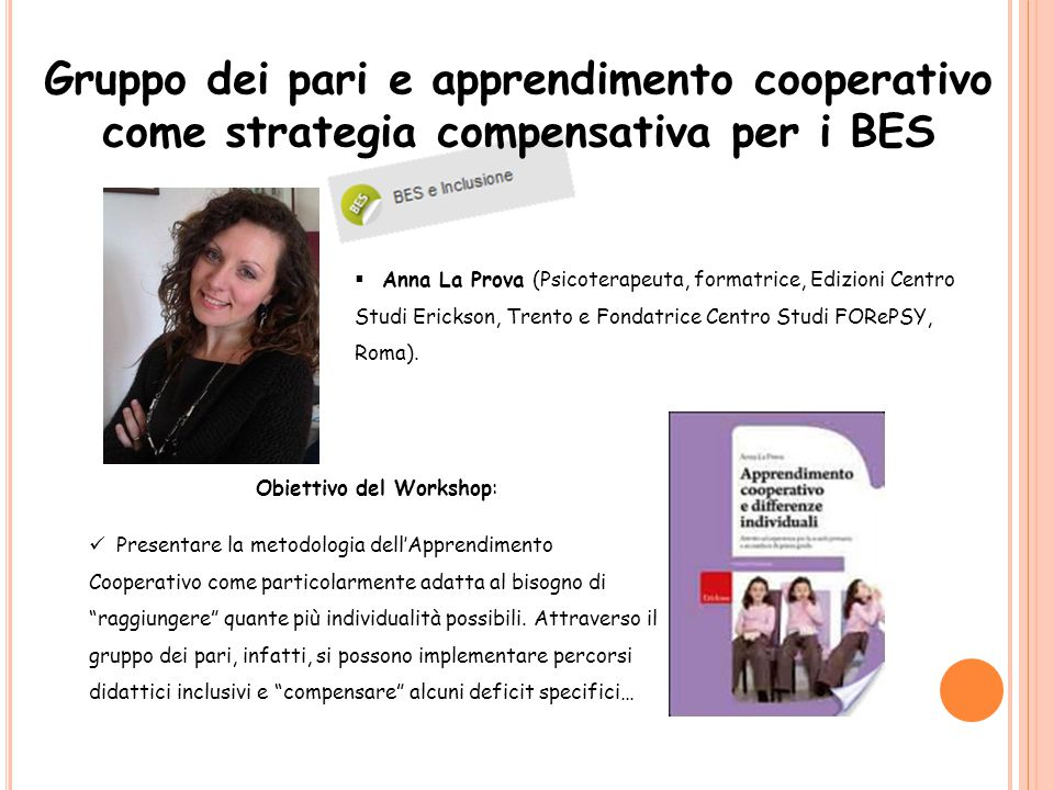 Obiettivo del Workshop: