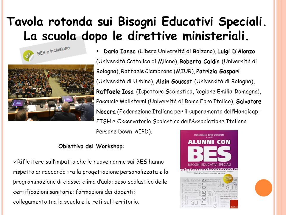 Tavola rotonda sui Bisogni Educativi Speciali.
