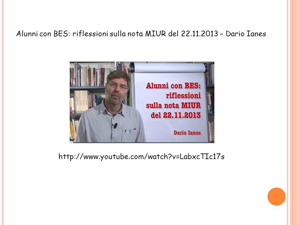 Alunni con BES: riflessioni sulla nota MIUR del 22. 11