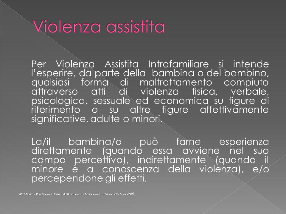 Violenza assistita