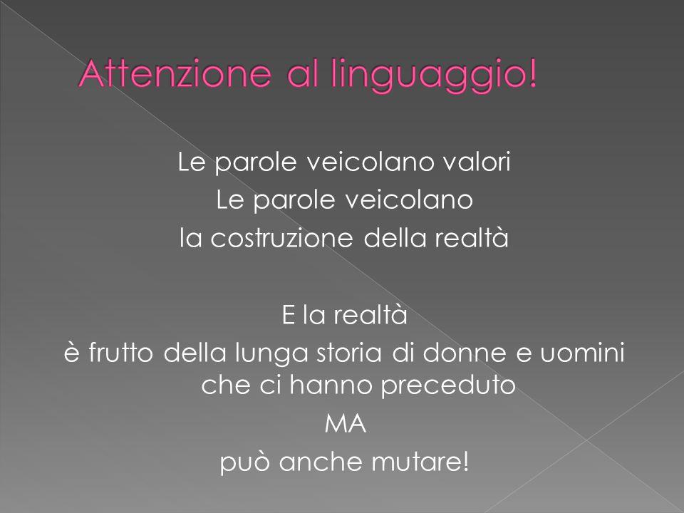 Attenzione al linguaggio!