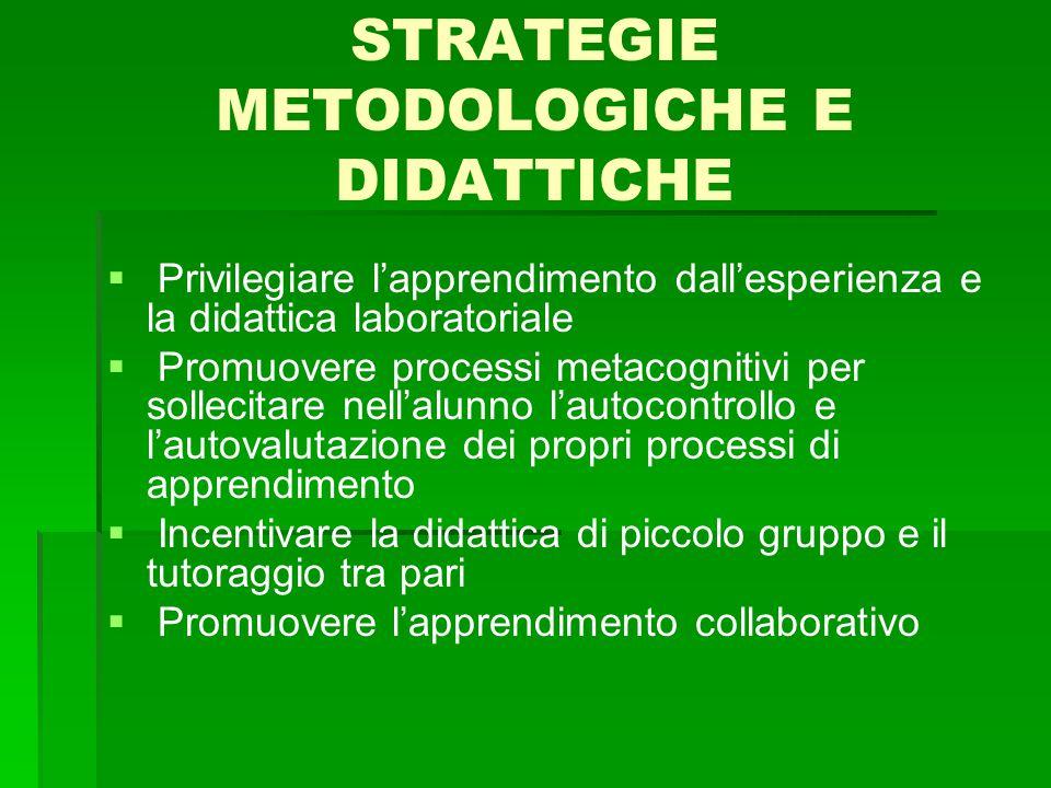STRATEGIE METODOLOGICHE E DIDATTICHE