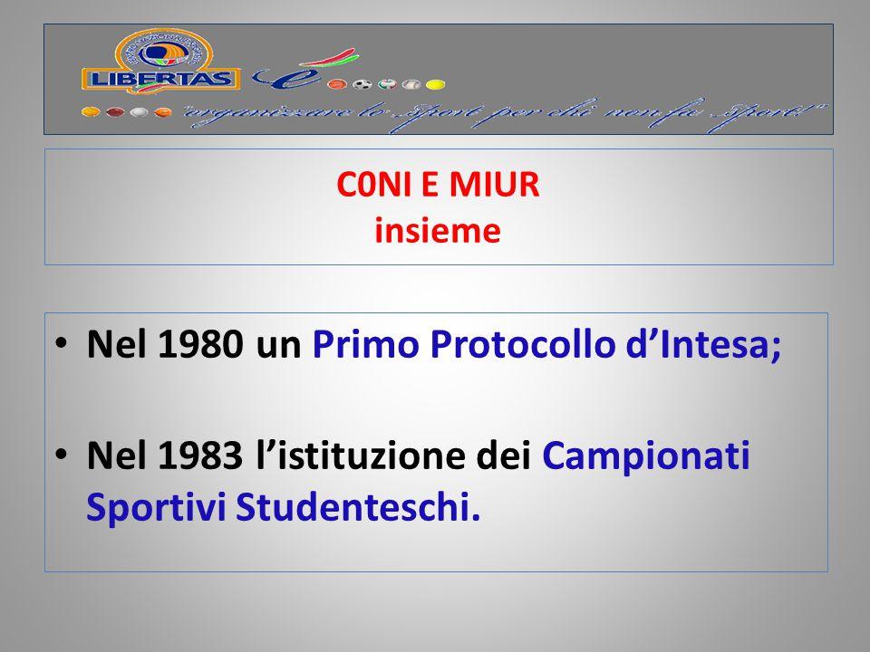 Nel 1980 un Primo Protocollo d'Intesa;