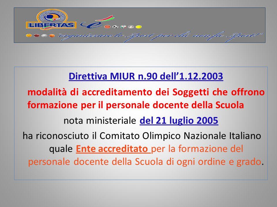 nota ministeriale del 21 luglio 2005