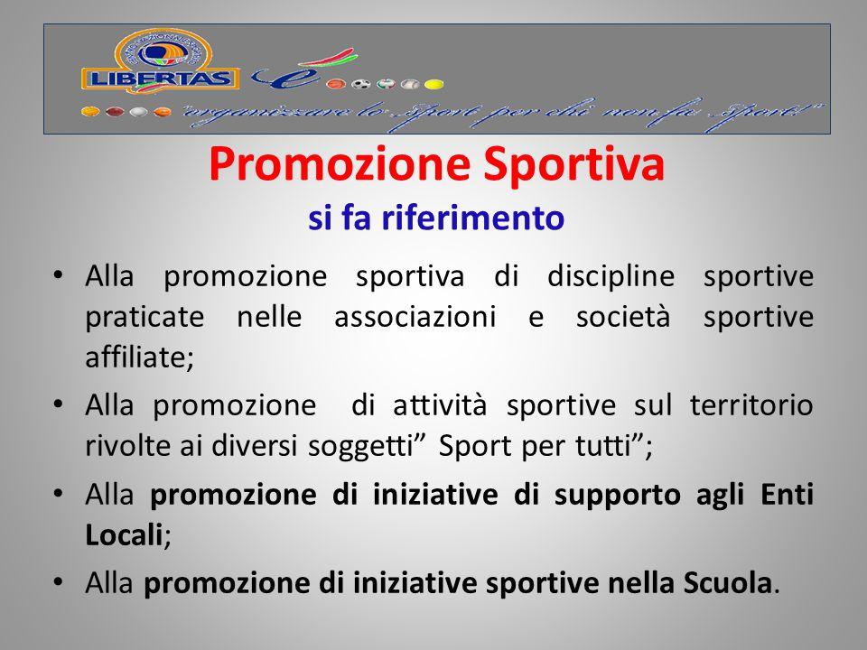 Promozione Sportiva si fa riferimento