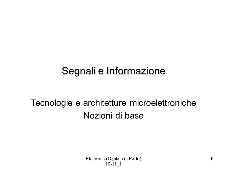 Segnali e Informazione