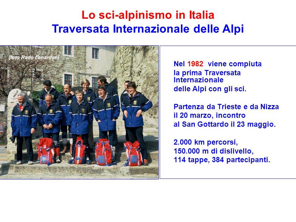 Lo sci-alpinismo in Italia Traversata Internazionale delle Alpi
