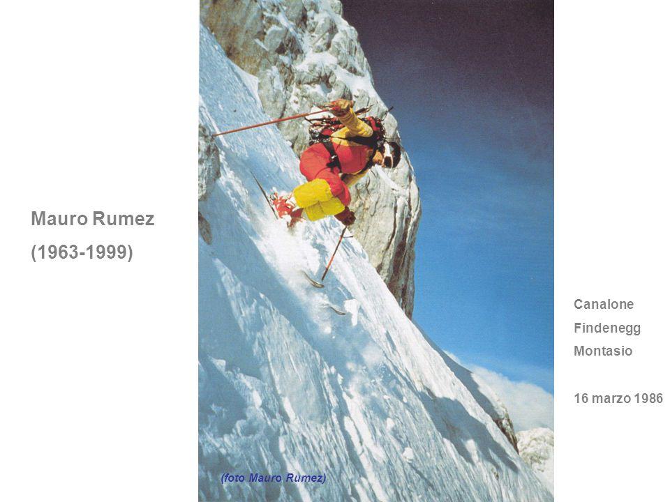 Mauro Rumez (1963-1999) Canalone Findenegg Montasio 16 marzo 1986
