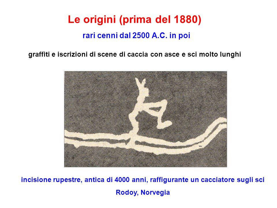 Le origini (prima del 1880) rari cenni dal 2500 A. C