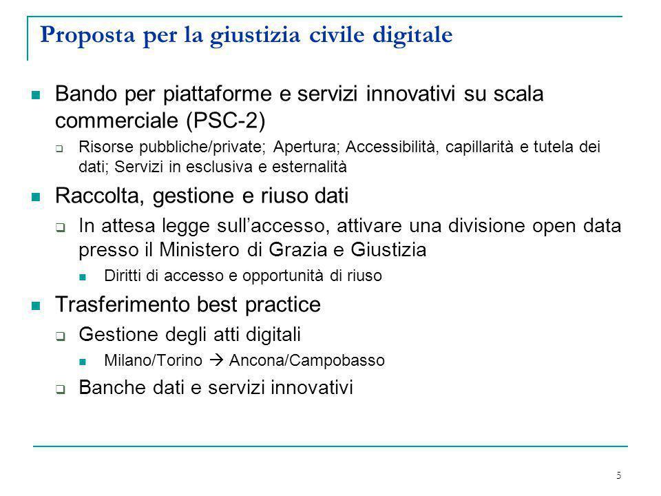 Proposta per la giustizia civile digitale
