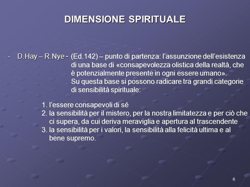 DIMENSIONE SPIRITUALE