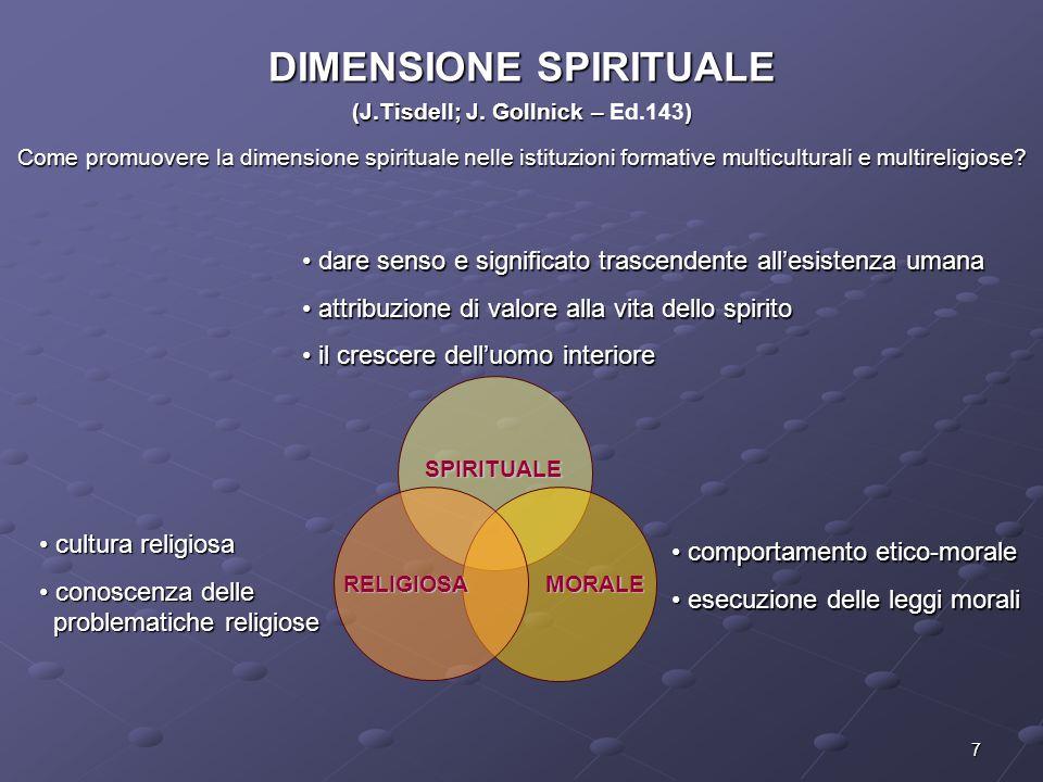 DIMENSIONE SPIRITUALE (J.Tisdell; J. Gollnick – Ed.143)