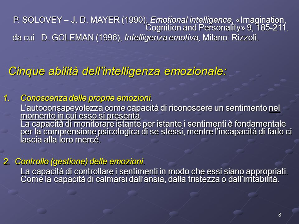 Cinque abilità dell'intelligenza emozionale: