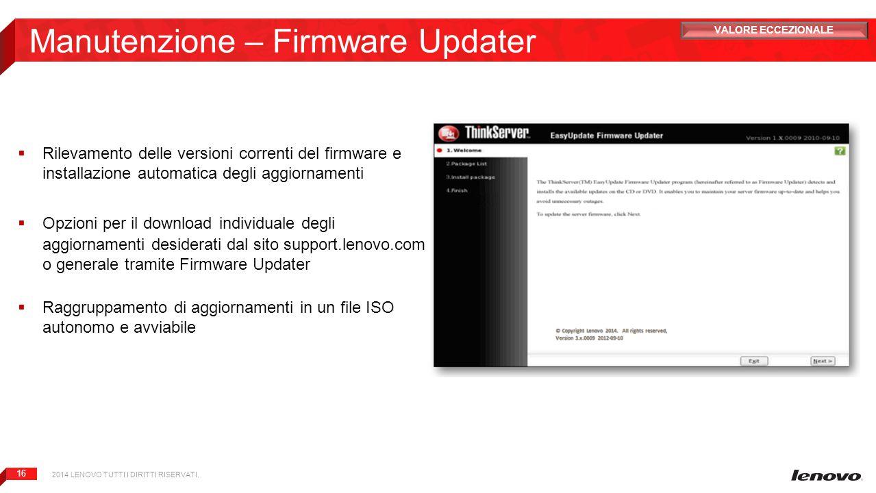 Manutenzione – Firmware Updater