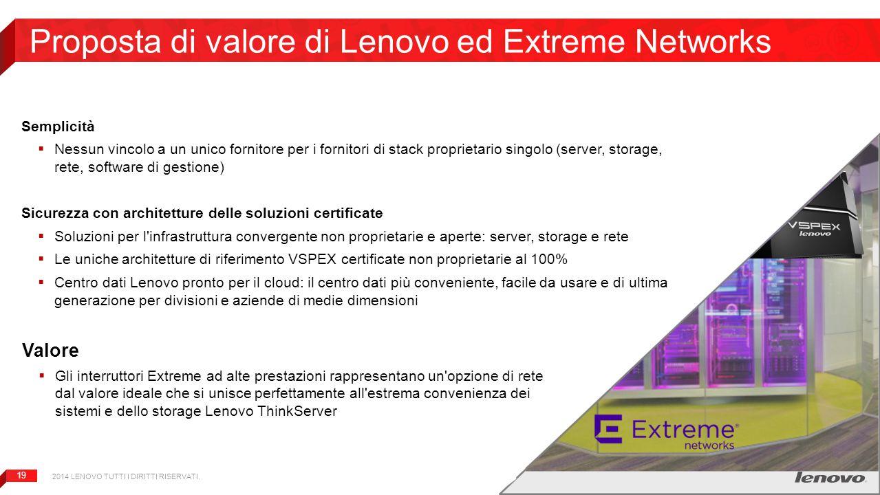 Proposta di valore di Lenovo ed Extreme Networks