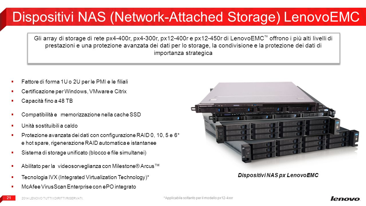 Dispositivi NAS (Network-Attached Storage) LenovoEMC