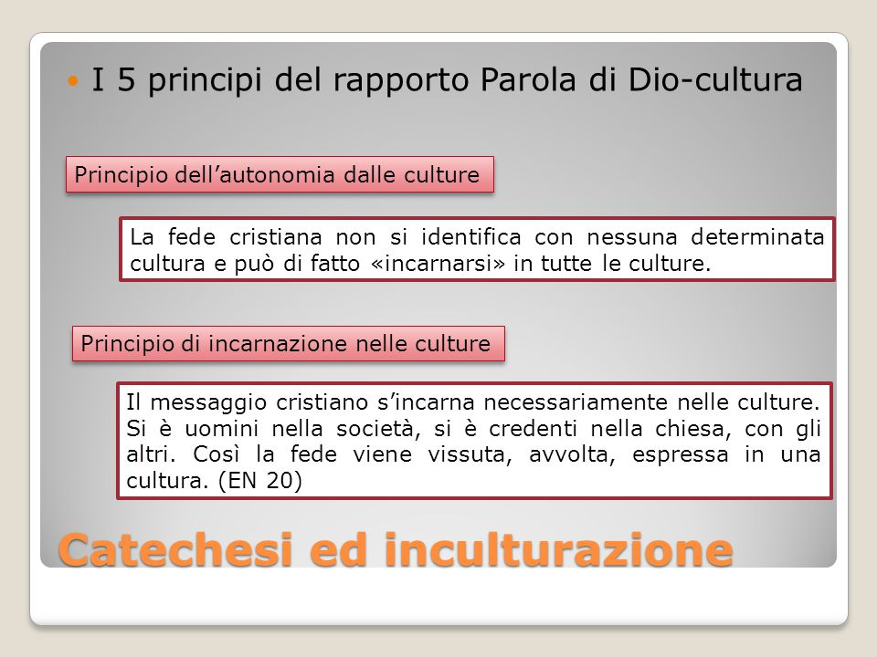 Catechesi ed inculturazione