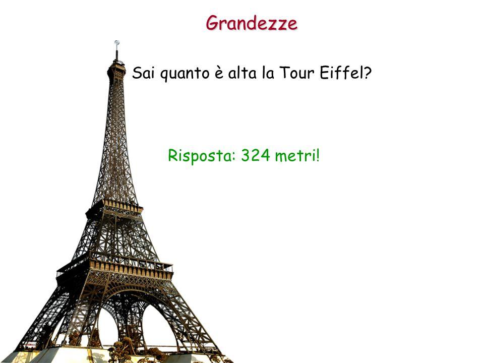 Sai quanto è alta la Tour Eiffel