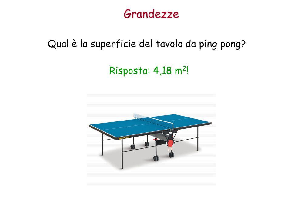Qual è la superficie del tavolo da ping pong
