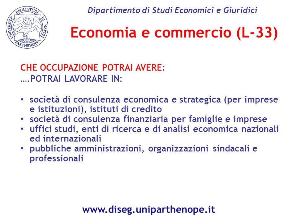 Economia e commercio (L-33)