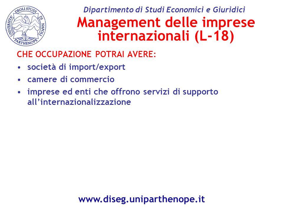 Management delle imprese internazionali (L-18)