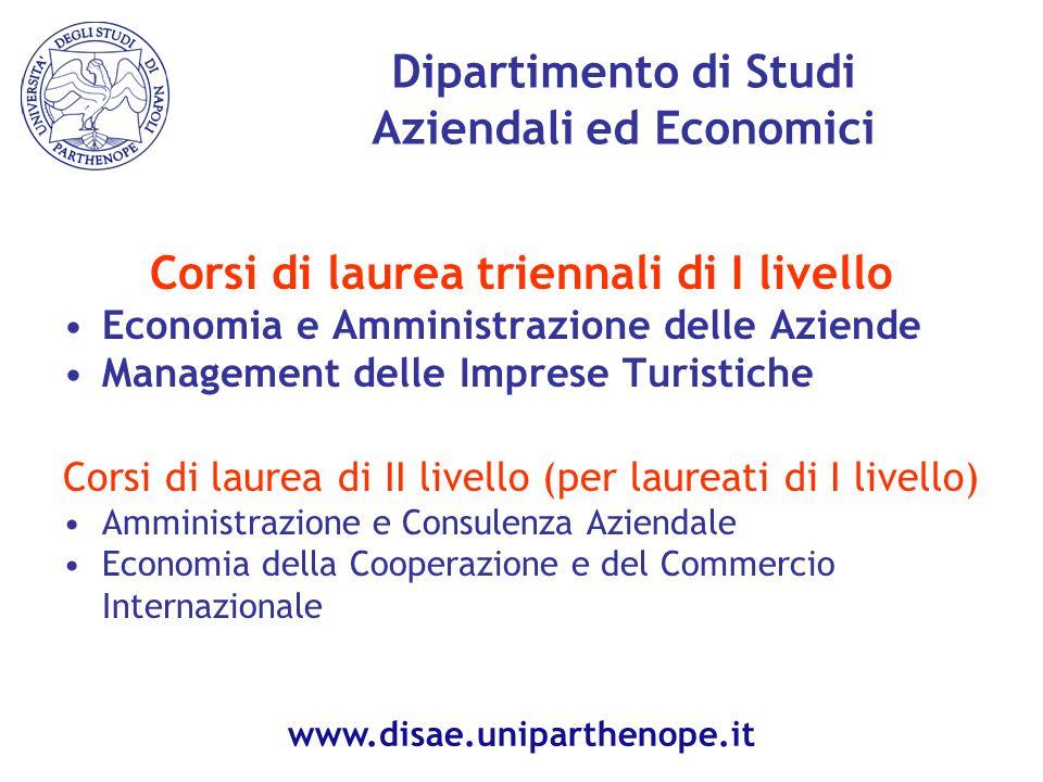 Dipartimento di Studi Aziendali ed Economici