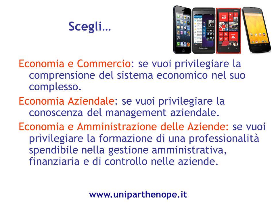 Scegli… Economia e Commercio: se vuoi privilegiare la comprensione del sistema economico nel suo complesso.
