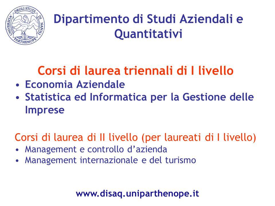 Dipartimento di Studi Aziendali e Quantitativi