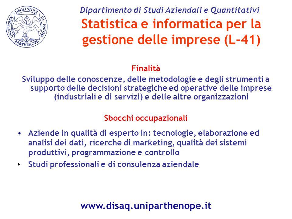 Statistica e informatica per la gestione delle imprese (L-41)
