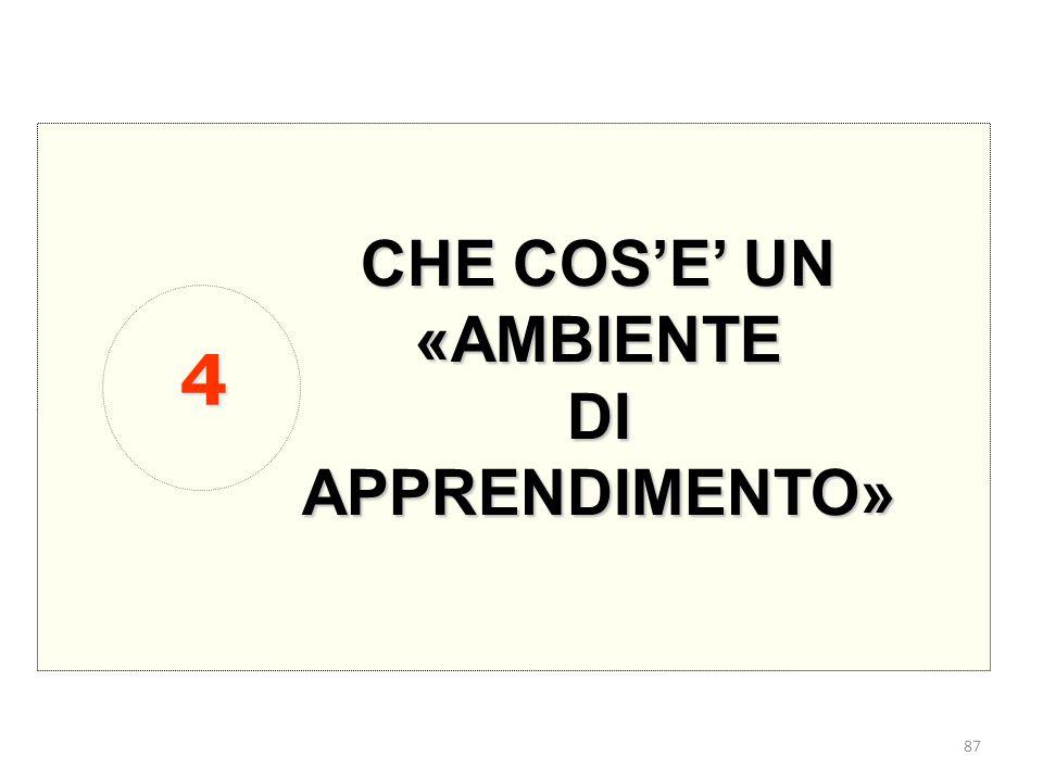 CHE COS'E' UN «AMBIENTE DI APPRENDIMENTO» 4